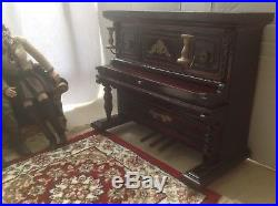 Doll Furniture Mahogany Piano & Bench 1/6 scale Barbie Silkstone Royalty