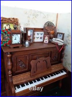 Doll Furniture upright Piano & Bench 1/6 scale Barbie Silkstone Royalty