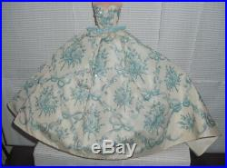 Dress Only Barbie Doll Silkstone Provencale Blue & White Gown Accessory Clothes