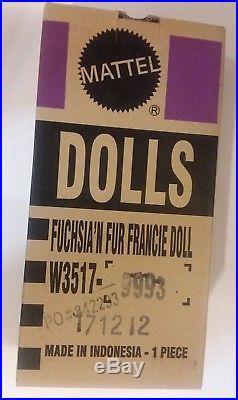 Francie Fuchsia'N Fur Barbie Silkstone Doll 2012 #W3517 In Original Box H72