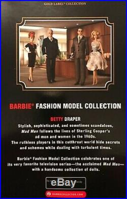 Full Set 4 x Mad Men Barbie Silkstone Collector's Doll's MINT UNOPENED UK SELLER