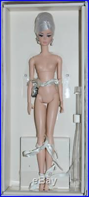 Glam Gown Barbie Nude doll Only Fashion Model Silkstone MIB with stand Platinum