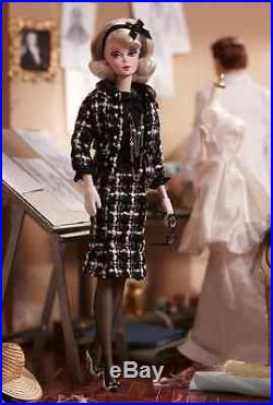 Gold Label Boucle Beauty Silkstone Barbie Doll Tweed Jacket Skirt Necklace