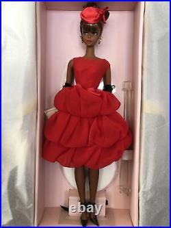 Gold Label Nostalgic Little Red Cocktail Dress Silkstone Black Barbie Doll