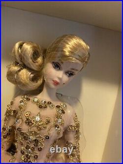 Gold Label Silkstone Barbie Blush & Gold Cocktail Dress. NRFB