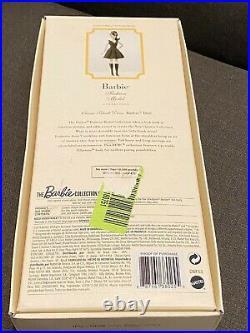 Gold Label Silkstone Barbie Classic Black Dress FASHION MODEL Brunette NEW NRFB