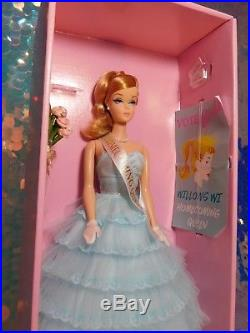 Homecoming Queen Barbie Doll Blonde Repro Aqua Gown Willows WI Fan Club CJF57(M)