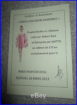 LUNCHEON ENSEMBLE SILKSTONE BARBIE 2013 PARIS Convention NRFB -LE 375 VHTF