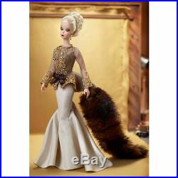 Limited Edition Silkstone BFMC Capucine Barbie Doll With Stole & Drop Earrings