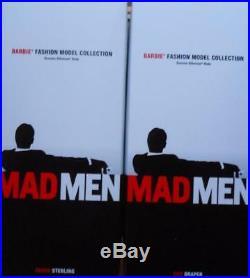 Lot of 2 Mad Men Ken DollsRoger Sterling & Don Draper2010 Gold LabelNIBNRFB