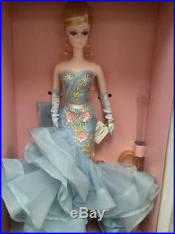Mint Silkstone Body Gold Label BFMC 10 Years Ruffled Gown Tribute Barbie Doll