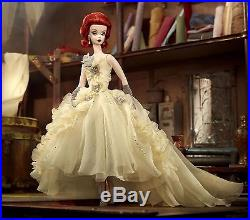 Mint Silkstone Gold Label BFMC Beautiful Gala Gown Red Head Barbie Doll