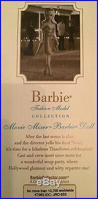 Movie Mixer Barbie Fashion Model Silkstone 2007 Gold Label Blonde NRFB K7963