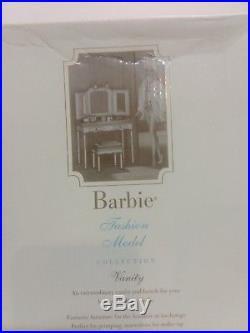 NEW Barbie Silkstone Fashion Model Collection Vanity/Bench B3436 NRFB SEALED