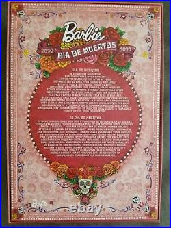 NEW IN HAND. 2020 Barbie Dia De Los Muertos Day of The Dead Pink. Fast Shipping