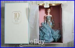 NEW NRFB 10 Years Tribute Barbie Silkstone Doll Gold Label Fashion Collection