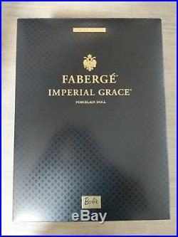 NRFB 2001 Porcelain Faberge Imperial Grace Barbie Doll Limited Ed. Withshipper box