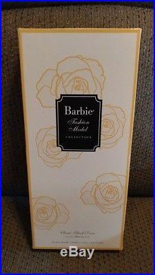 NRFB Barbie Paris Conv Platinum Label Classic Black Dress Redhead Silkstone Doll