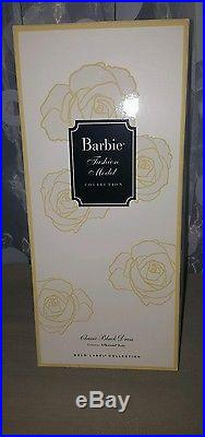 NRFB Barbie Silkstone Classic Black Dress Blond Articulated Body