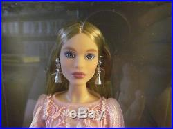 NRFB Blush Fringed Gown Platinum Barbie