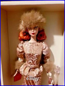 NRFB Rare Beauty Ekaterina Silkstone Russian Barbie 2010 Gold Label Doll