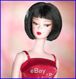 NRFB Silkstone Chinoiserie Red Midnight Barbie Doll 2004