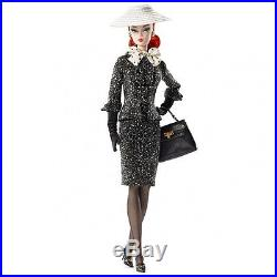 New BFMC Silkstone Barbie Black & White Tweed Suit 2017 Doll NRFB