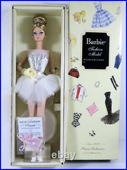 Nib Barbie Doll 2009 Fashion Model Silkstone Prima Ballerina Since 1959 P4753