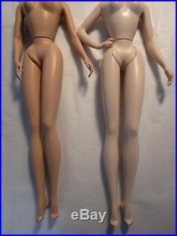 Nude Betty and Joan Silkstone Dolls Mad Men TV show Mattel