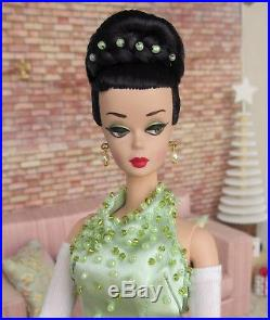 Ooak silkstone Barbie vintage style ponytail updo with evening dress by Lolaxs