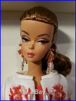 Palm Beach Coral Silkstone Barbie Doll 2009 Gold Label Mattel #r4535 Mint Nrfb