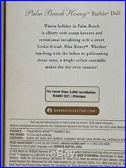 Palm Beach Honey Barbie 2010 Doll MINT NRFB. Limited Ed. 3,550. Worldwide. Rare