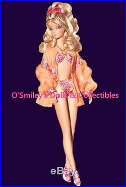 Poolside 2010 PALM BEACH SWIM SUIT Silkstone Barbie BFMC GOLD LABEL R4483 NRFB