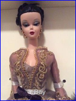 Rare Chataine Silkstone Barbie Doll Gold Label 2002 Fao Shwarz Limited Ed B4425