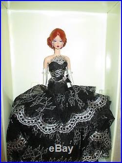 Rare DAHLIA Platinum Label Silkstone Barbie NRFB with Mattel Shipper J4255 VHTF