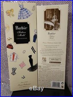 Rare Prima Ballerina Silkstone Barbie Doll 2009 Bfc Exclusive Mattel P4753 Nrfb