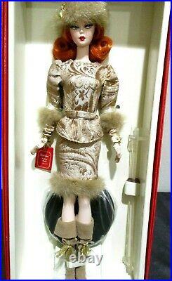Rare Russian Ekaterina Silkstone Barbie Doll Mattel 2010 Gold Label