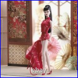 SILKSTONE BARBIE 2004 CHINOISERIE RED MOON Lingerie Gold Label PREOWNED COMPLETE