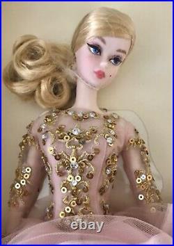SILKSTONE Barbie BLUSH & GOLD COCKTAIL DRESS 2016 #DWF55 NRFB