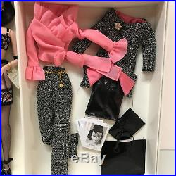 Silkstone Barbie A Model Life Barbie raven pink black clothes many NRFB New
