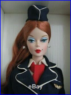 Silkstone Barbie Career Collection Lot of 3 Usherette French Maid Stewardess EC