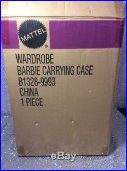 Silkstone Barbie Doll Wardrobe Carrying Case 2002 Mattel B1328 Mint Nrfb