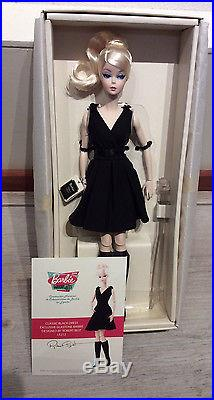 Silkstone Classic Black Dress Barbie blonde NRFB 2016 Madrid Spain convention