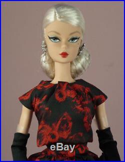 Silkstone Elegant Rose Cocktail Dress Barbie Doll # FJH77 NRFB 2017 gold label