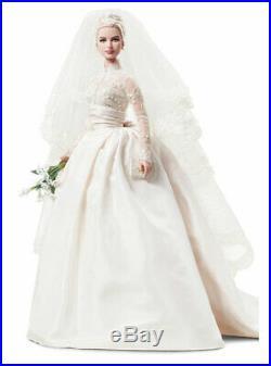 Silkstone Grace Kelly The Bride Barbie Doll #T7942 2011 Mattel NRFB Gold label