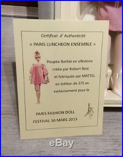 Silkstone Luncheon Ensemble Barbie doll NRFB Paris 2013 Doll Festival convention