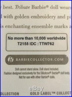 TRIBUTE Barbie Doll Silkstone 10 Year Gold Label Fashion Model Collection T2155