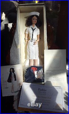 The Nurse Fashion Model Silk-stone Barbie Doll NRFB Gold Label