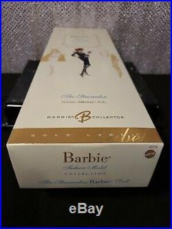 The Stewardess Silkstone Barbie Doll Gold Label Mattel J4256 Nrfb