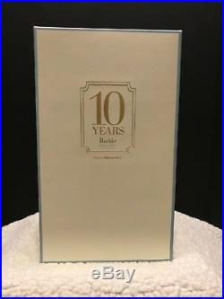 Tribute 10 Years Barbie Fashion Model Collection Gold Label T2155 Silkstone